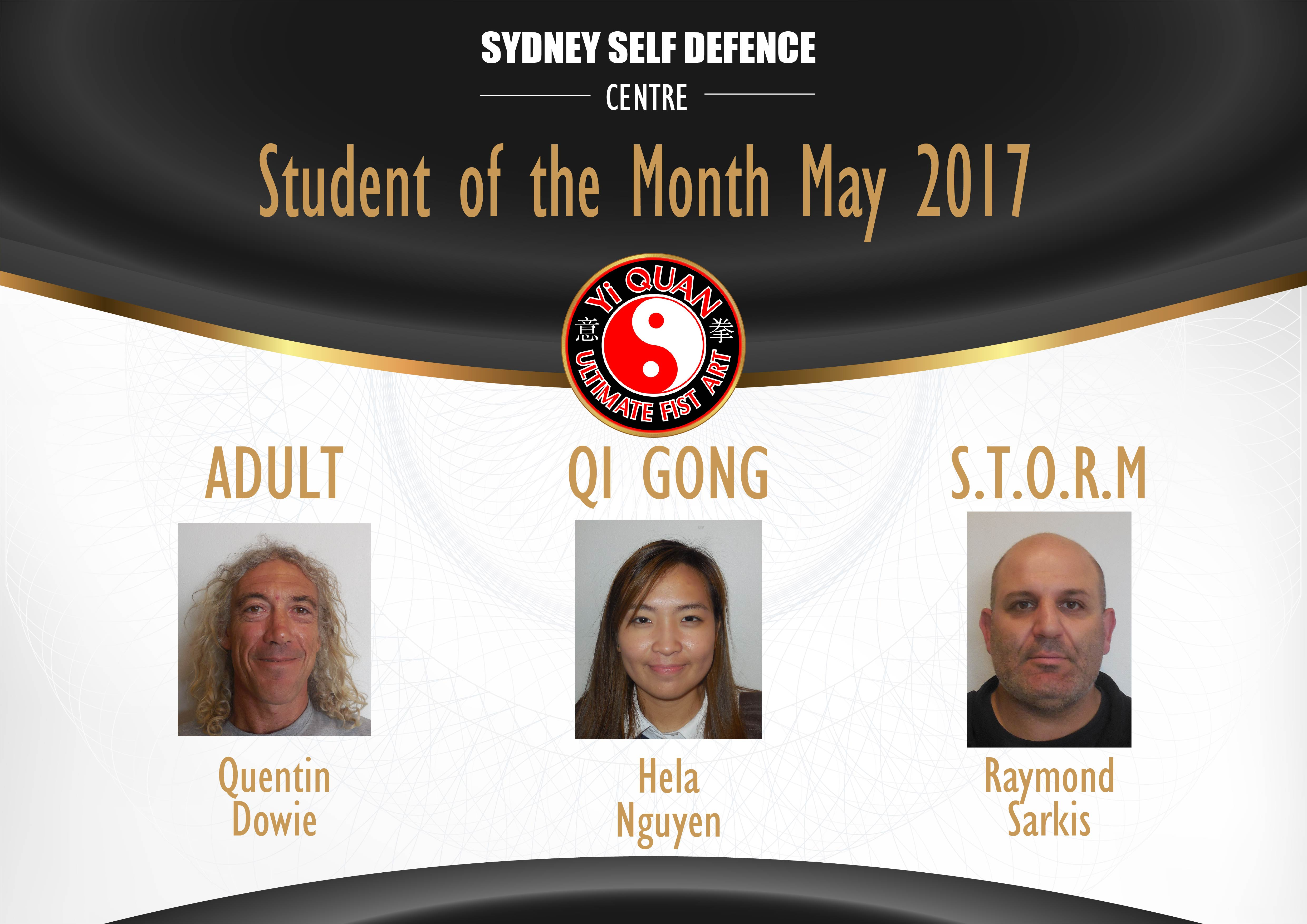 Sydney Self Defence Centre Students of the Month